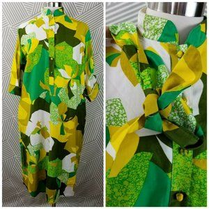 Vtg Penthouse Gallery Caftan Dress small medium